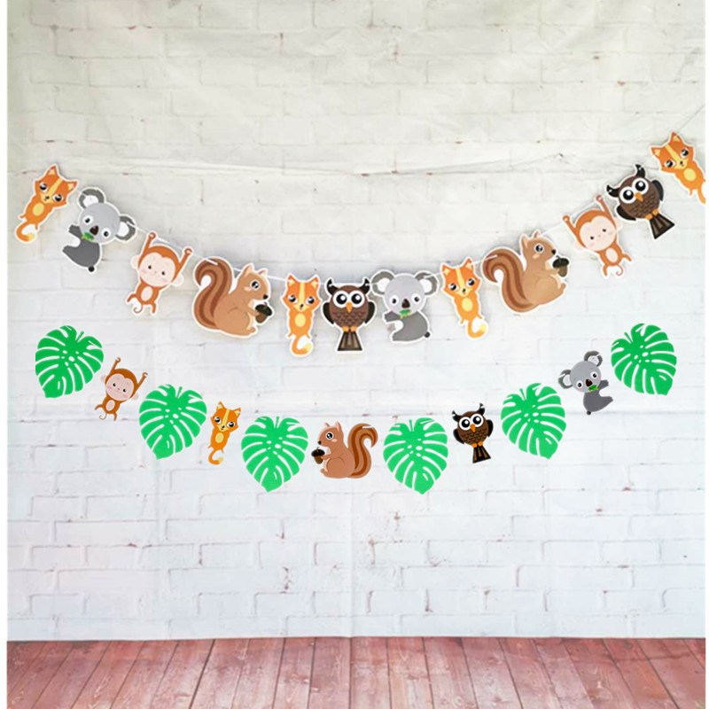 Creative Jungle-Themed Paper Banner Decor for Birthday Parties
