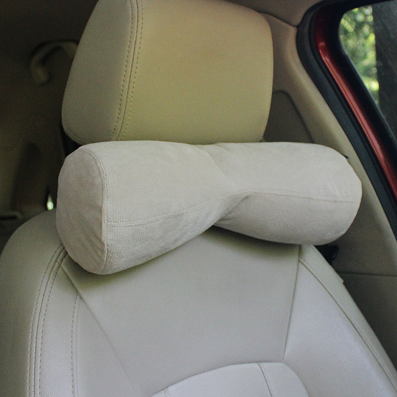 Bowknot-shaped Neck Pillow with Memory Foam for Car Headrests