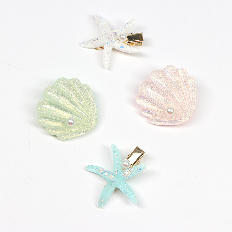 Sparkling Sea Finds Resin Hair Clips