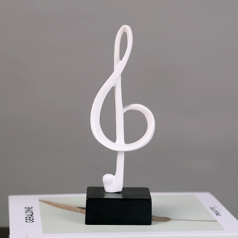 Clever Music Notes Decor for Piano Room