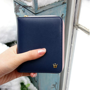 Lovely Two-Fold Wallet with Coin Purse for Everyday Use