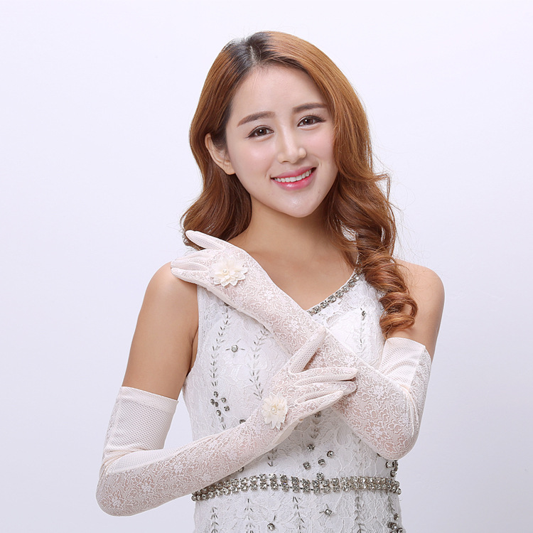 Classy Looking Floral Arm Gloves for Elegant Events