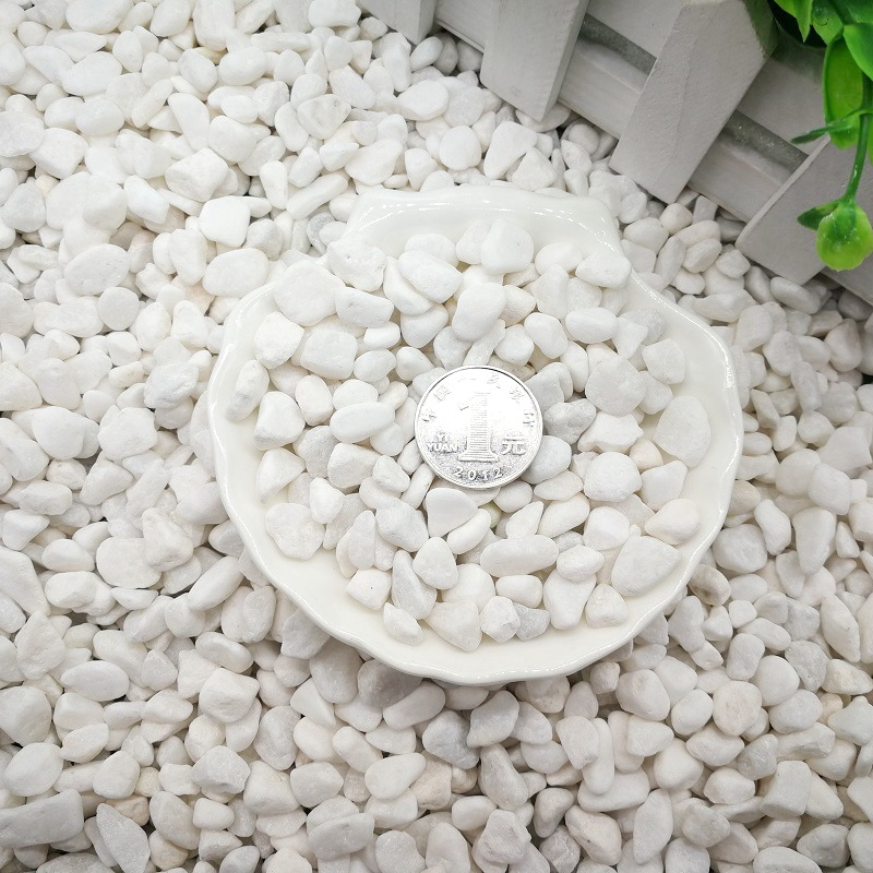 Natural White Stones for Pavements and Gardens