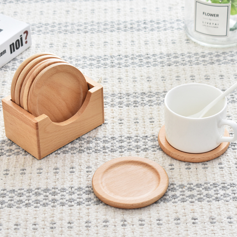 Wooden Cup Coaster for Dining Daily Use