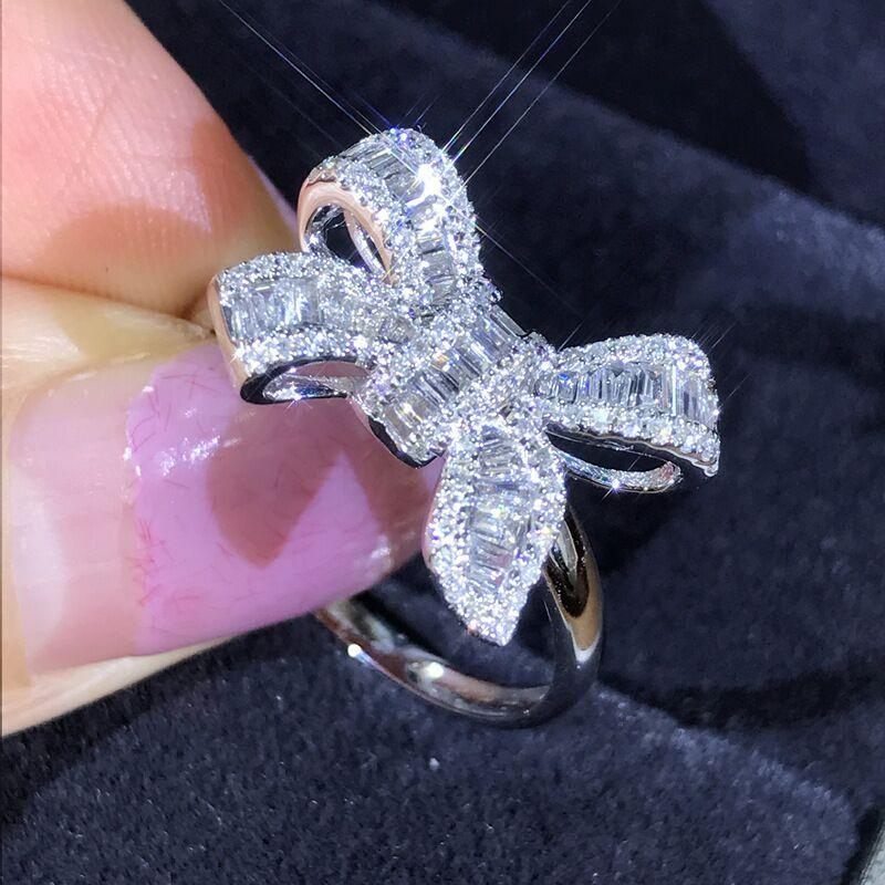 Lux Crystal Bow Ring