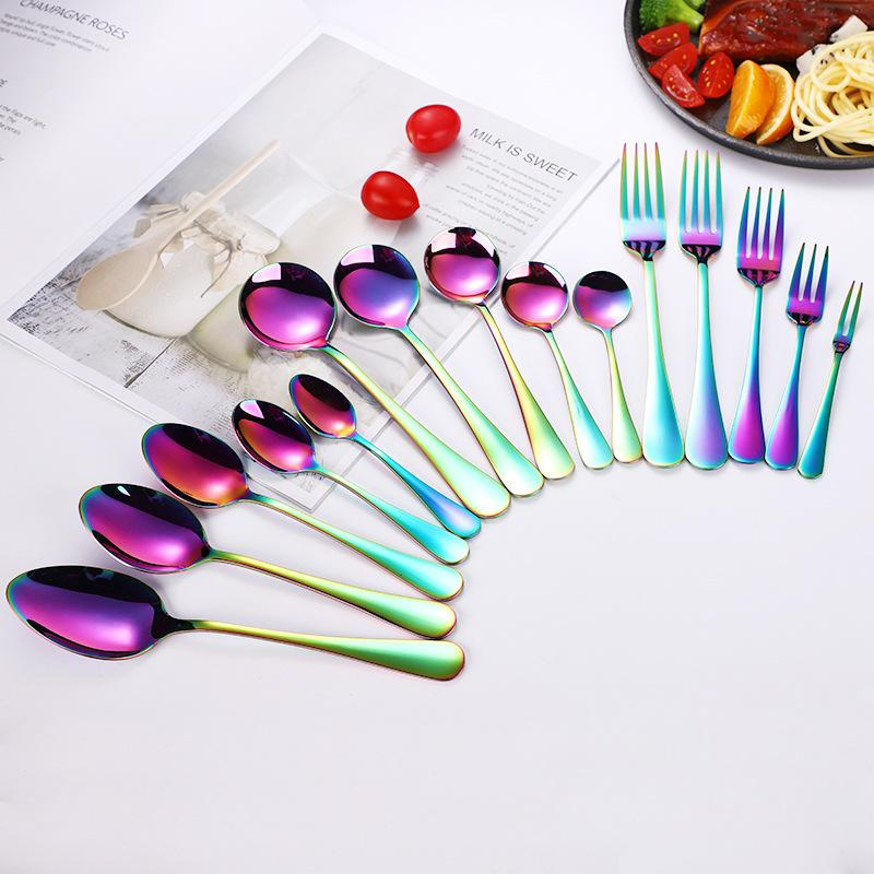 Colored Stainless Steel Cutlery