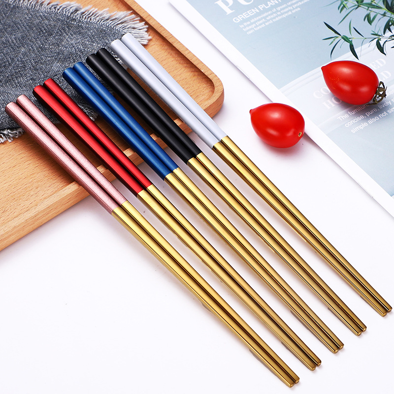 Color Accent Metallic Chopsticks