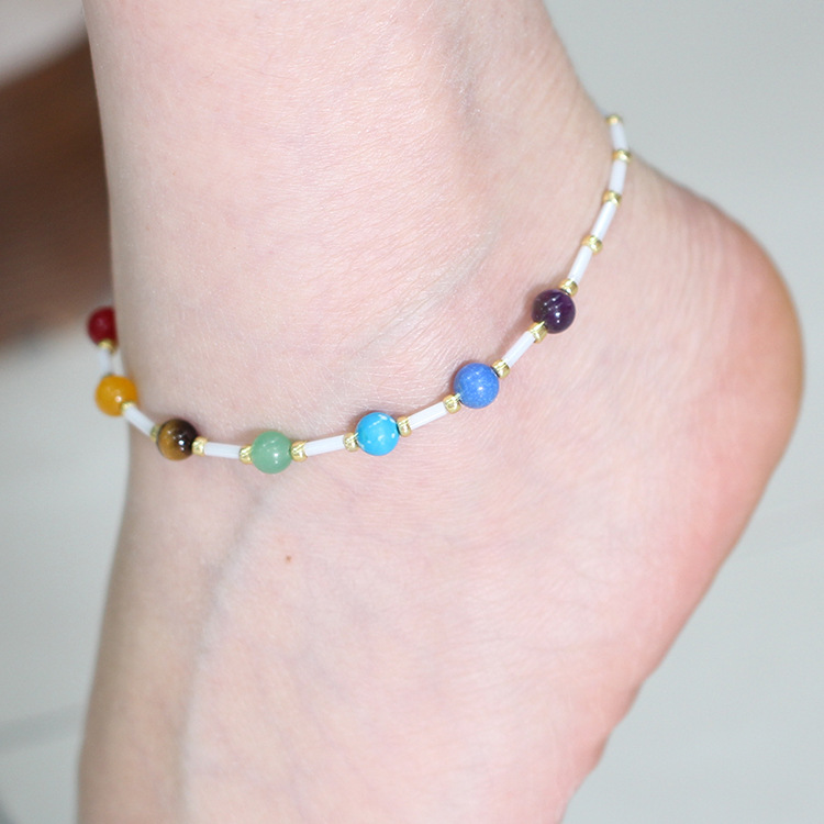 Colorful Beads Anklet for Bridal Shower Gifts