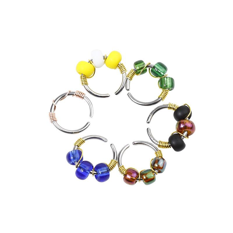 Beaded Stainless Steel Nose Ring