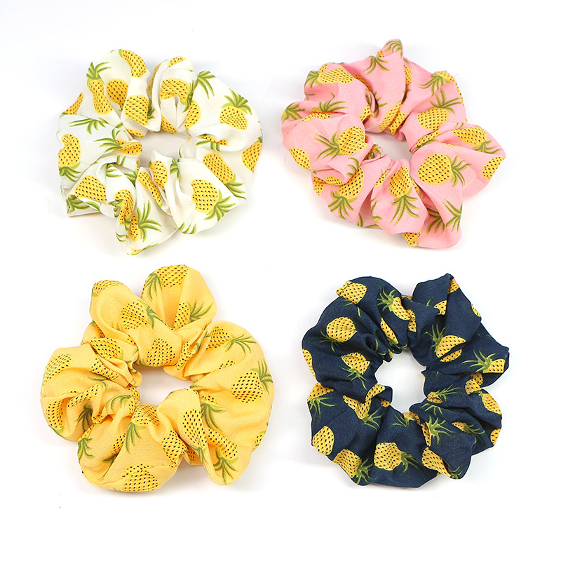 Tropical Pineapple Scrunchies