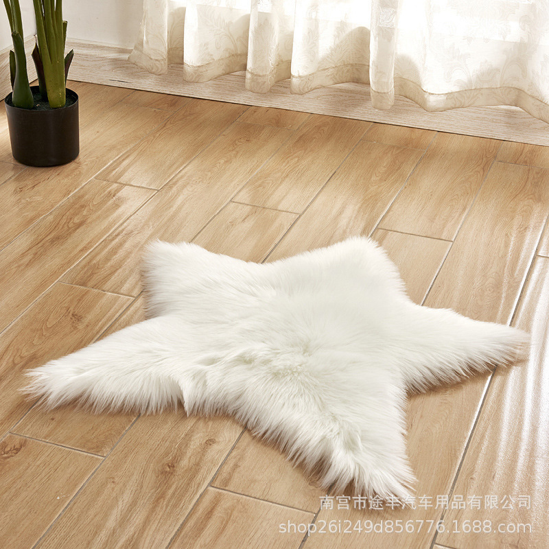 Colorful Synthetic Fiber Star Carpet for Bedrooms