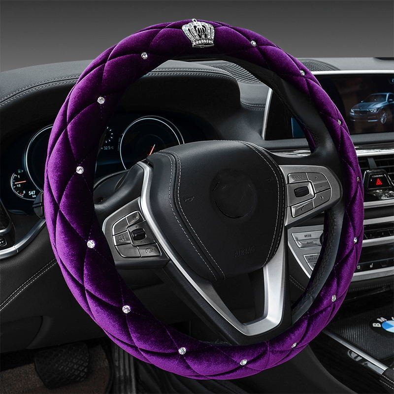 Plush Steering Wheel Cover for Warm Grip