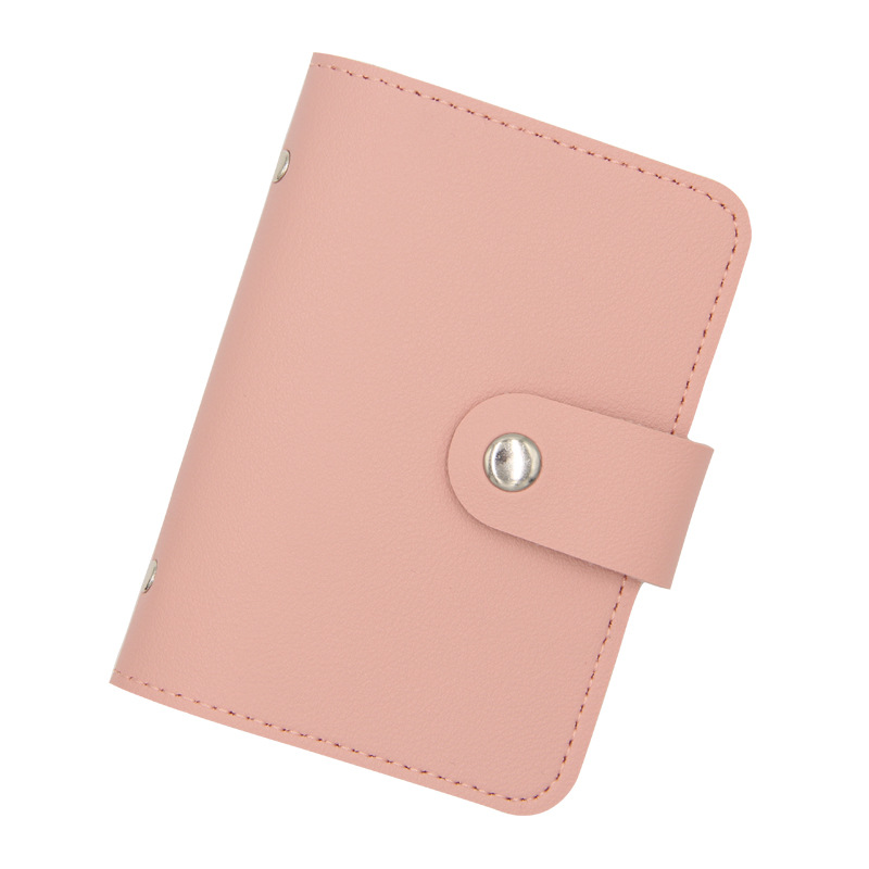 Simple Solid Color Card-Holder Wallet for Everyday Use