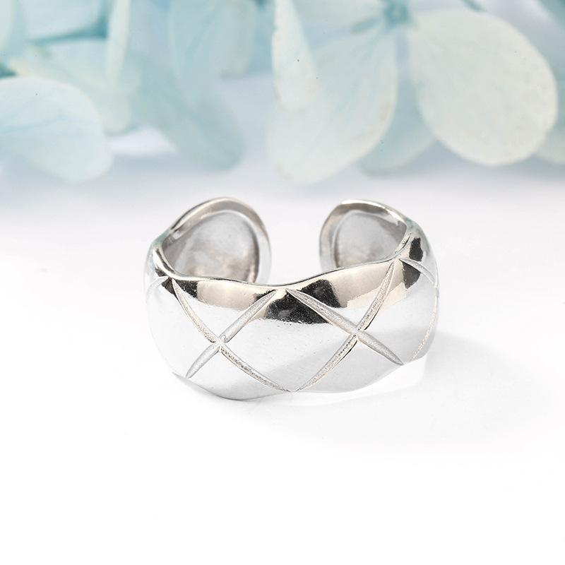 X Marks Silver Ring