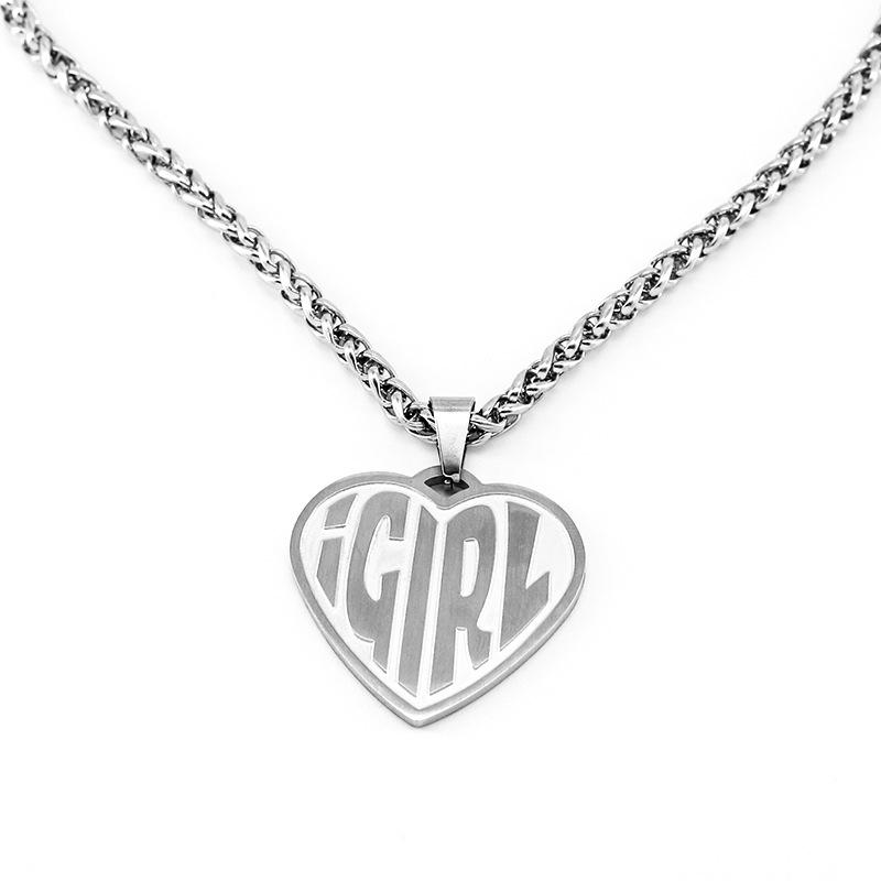 iGirl Heart Pendant Chain Necklace