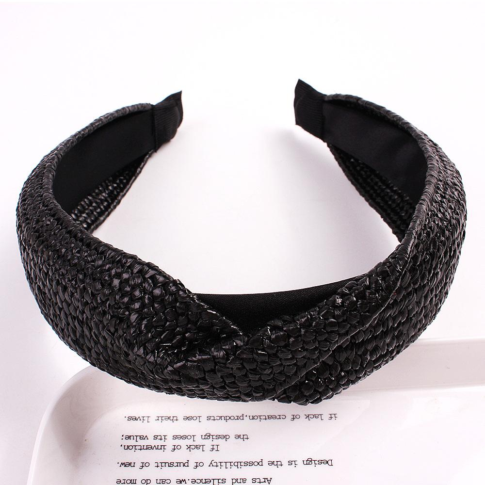 Handwoven Straw Knotted Headband
