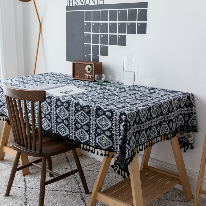 Creative Ethnic Pattern Tablecloth for Breakfast Table