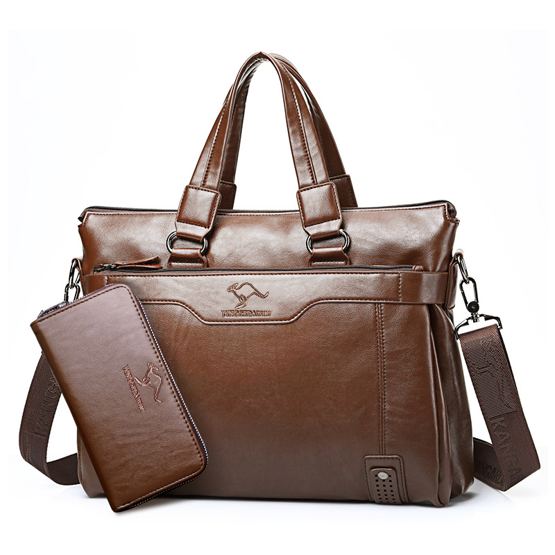 Elegant Pure-Colored Messenger Bag for Office Necessities