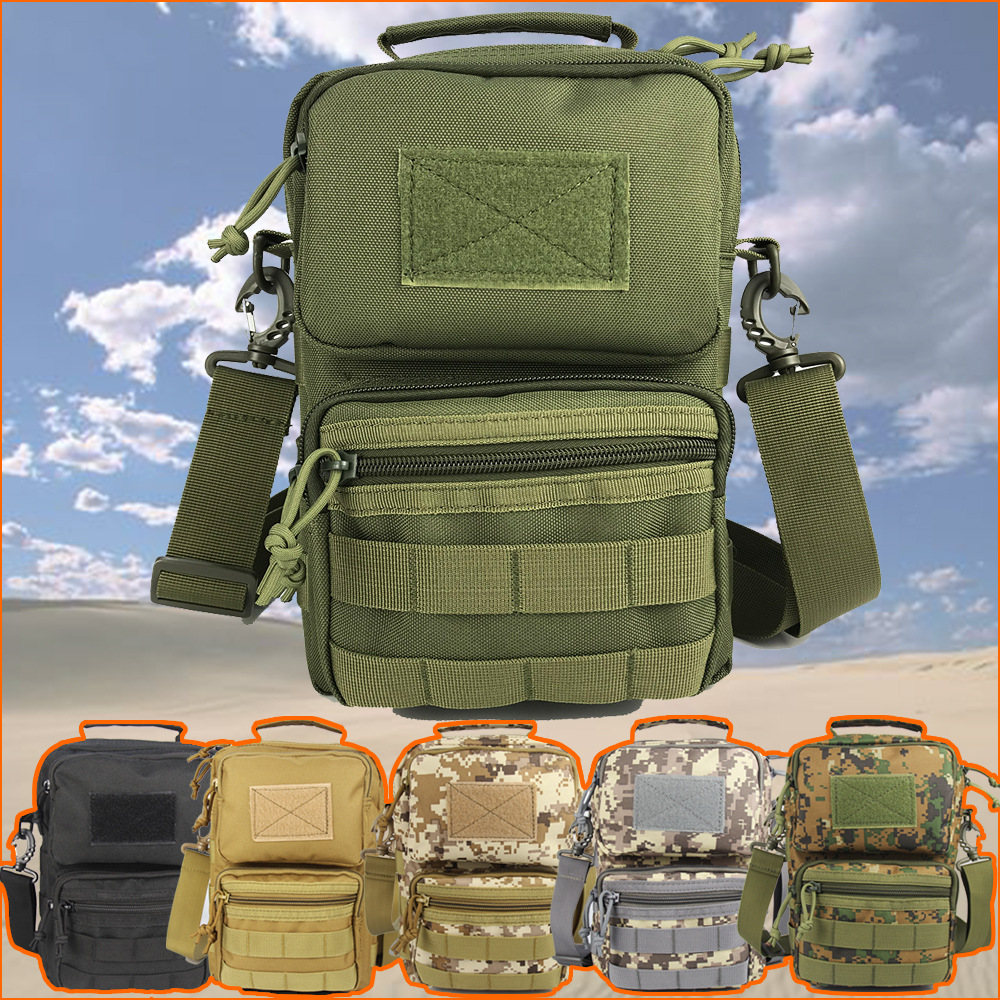Spacious Tactical Bag Camouflage Shoulder Bag for Outdoor Adventures