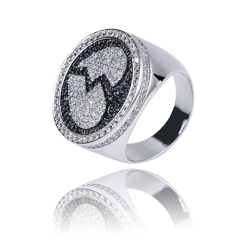 Two-Tone Broken Heart Inlay Ring for Attending Events