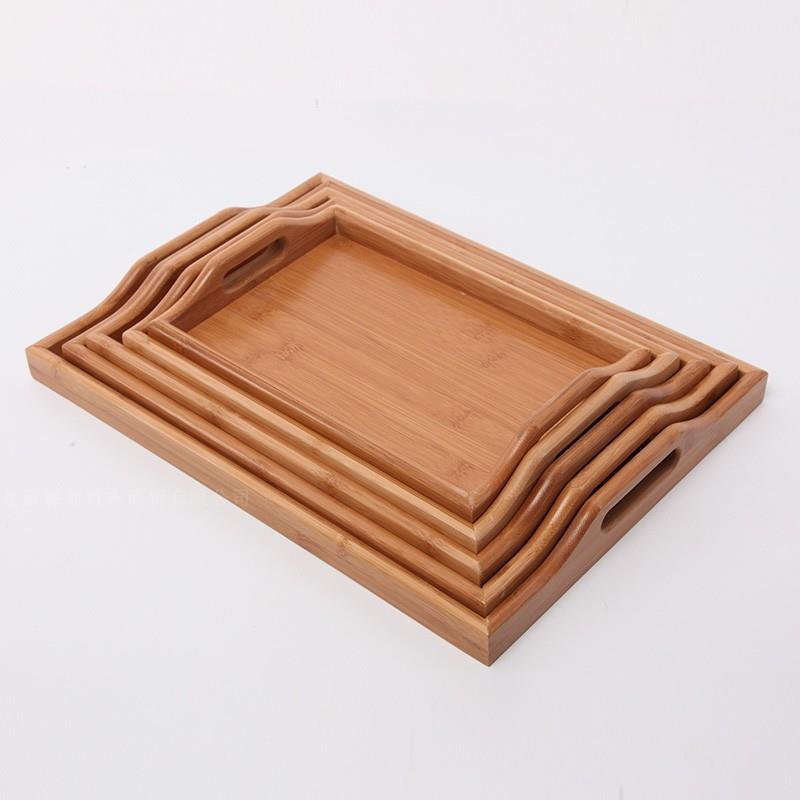 Bamboo Wooden Rectangular Tray for Serving Tea