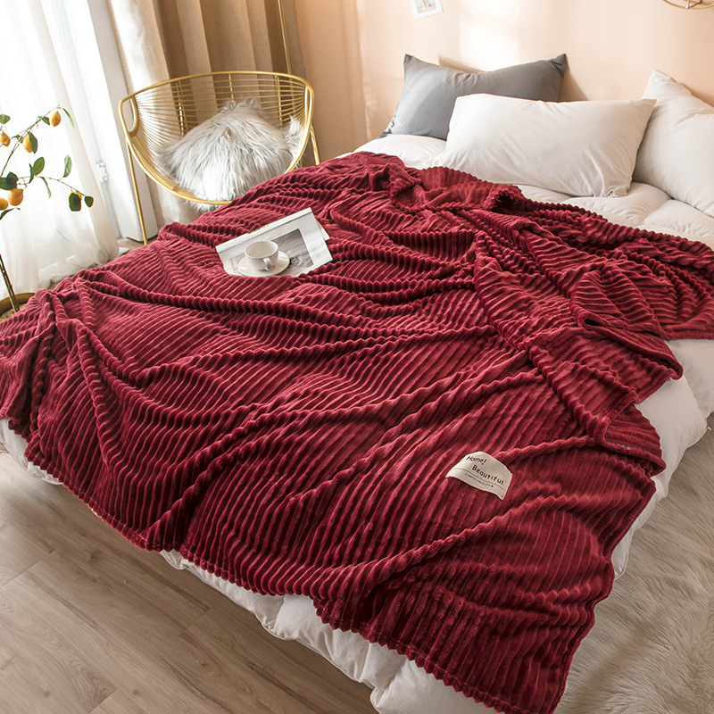 Textured Thick Flannel Blanket for Better Sleep