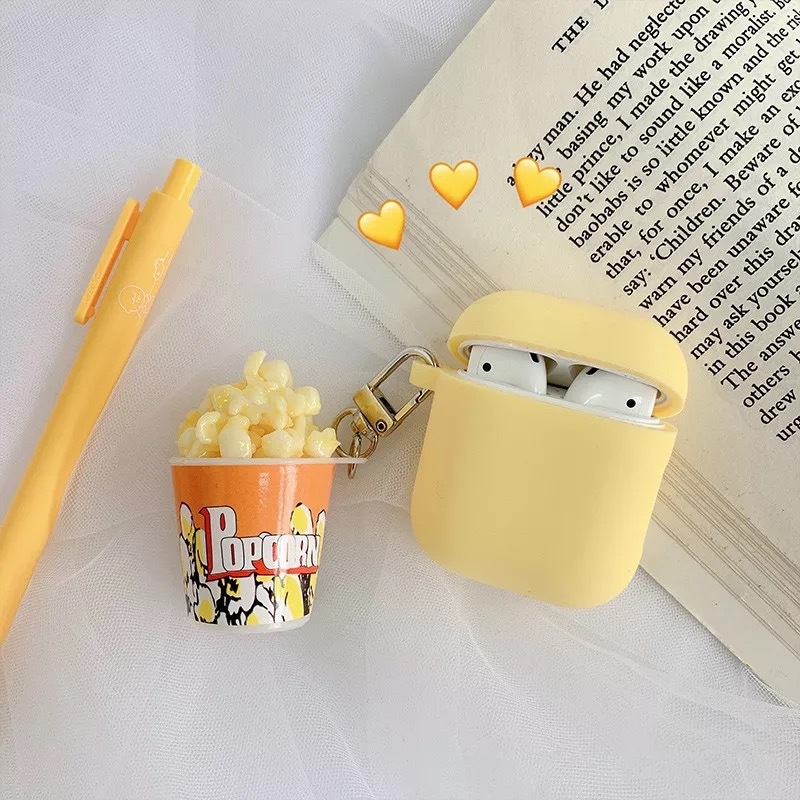 Popcorn Yellow Airpods Case