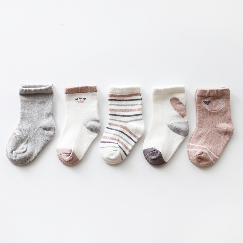 Cute Breathable Socks (5 pairs) for Infants