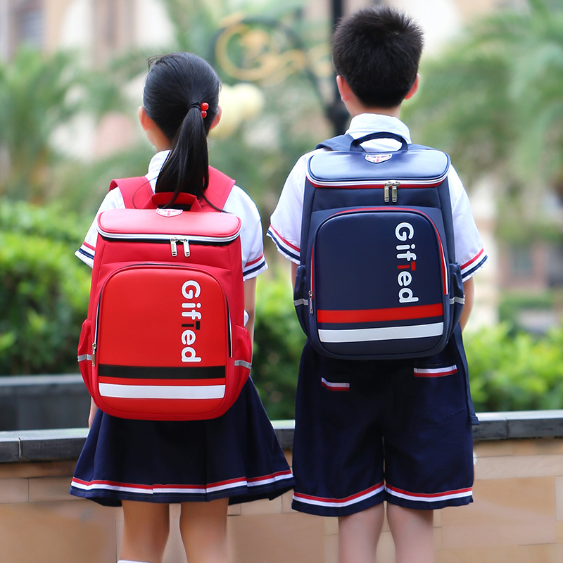 """British-Inspired """"Gifted"""" Waterproof Nylon Backpack for Preppy Kids"""
