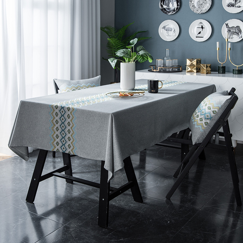 Classy Hemp Fiber, Polyester Fiber, Cotton and Linen Table Cloth for Dining Tables