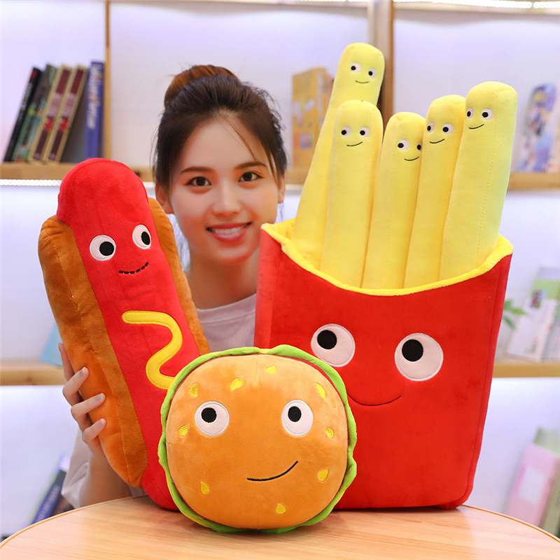 Fun Fast Food Snacks Plushies for College Dorms