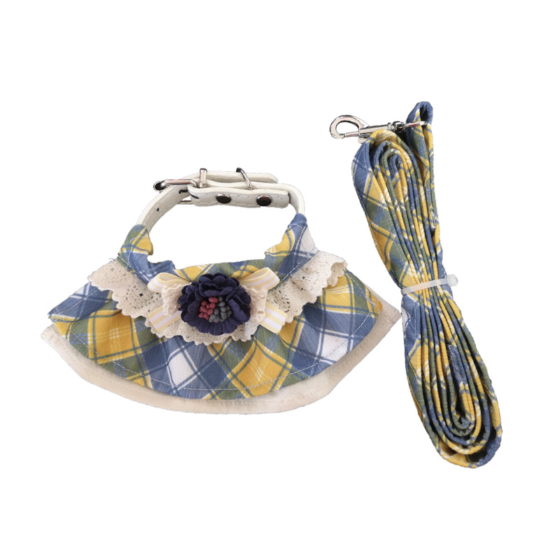 Stylish Madras Plaid Bib for Bringing your Pets to the Mall