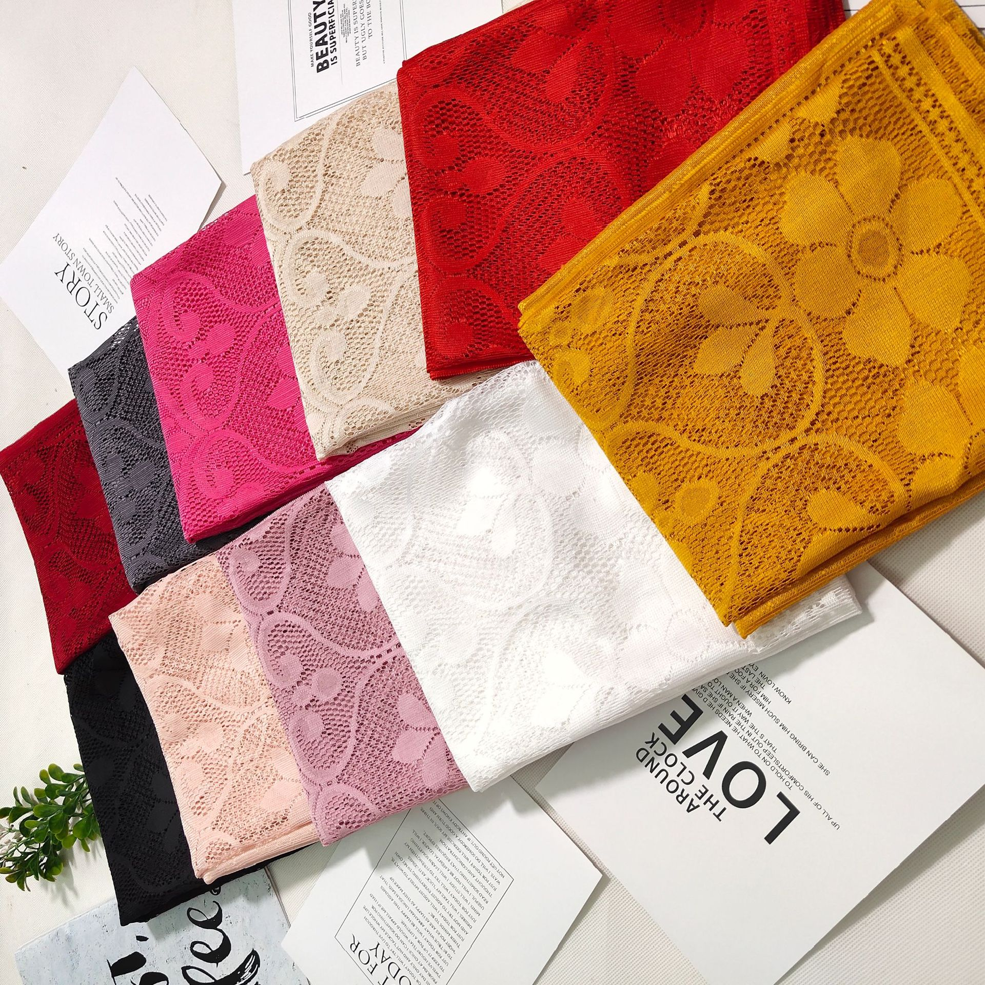 Fancy Long Lace Scarf for Winter Fashion