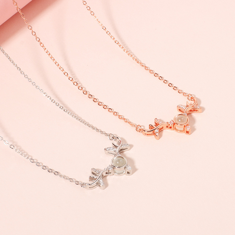You are my Deer Love Projection Necklace