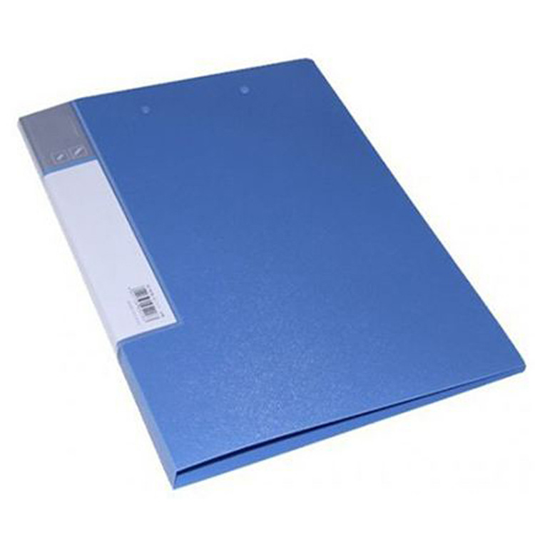 Blue Plastic A4 Folder with Clip for Compiling Papers and Files