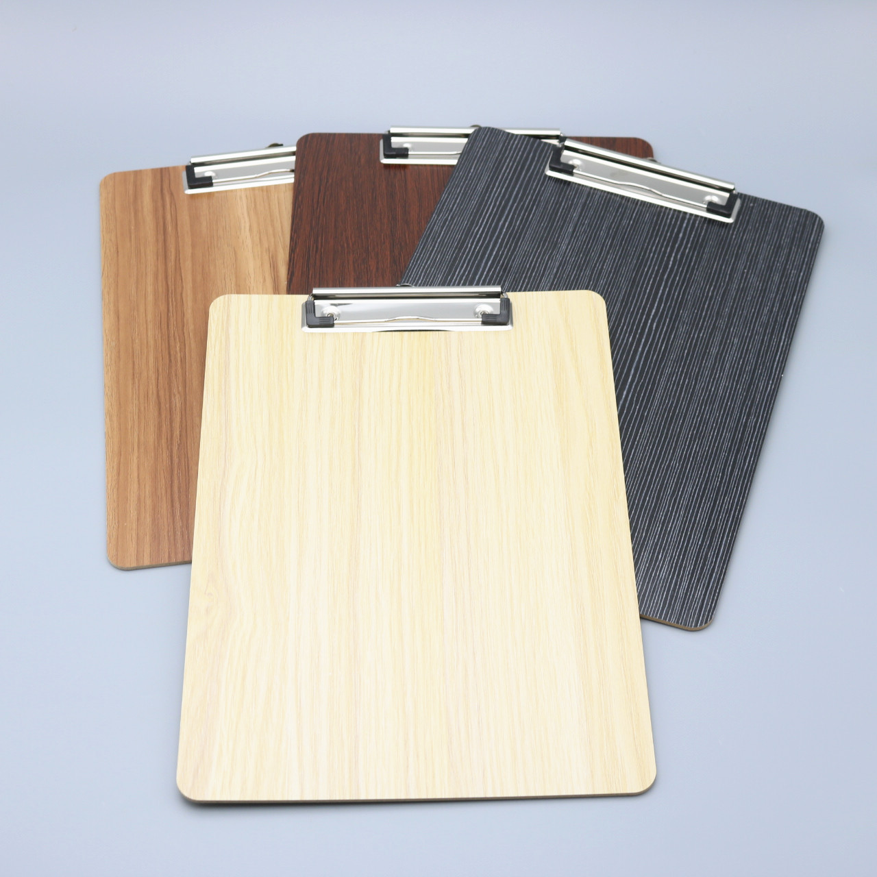 Monochrome Wooden Clipboard for Organizing Paperworks