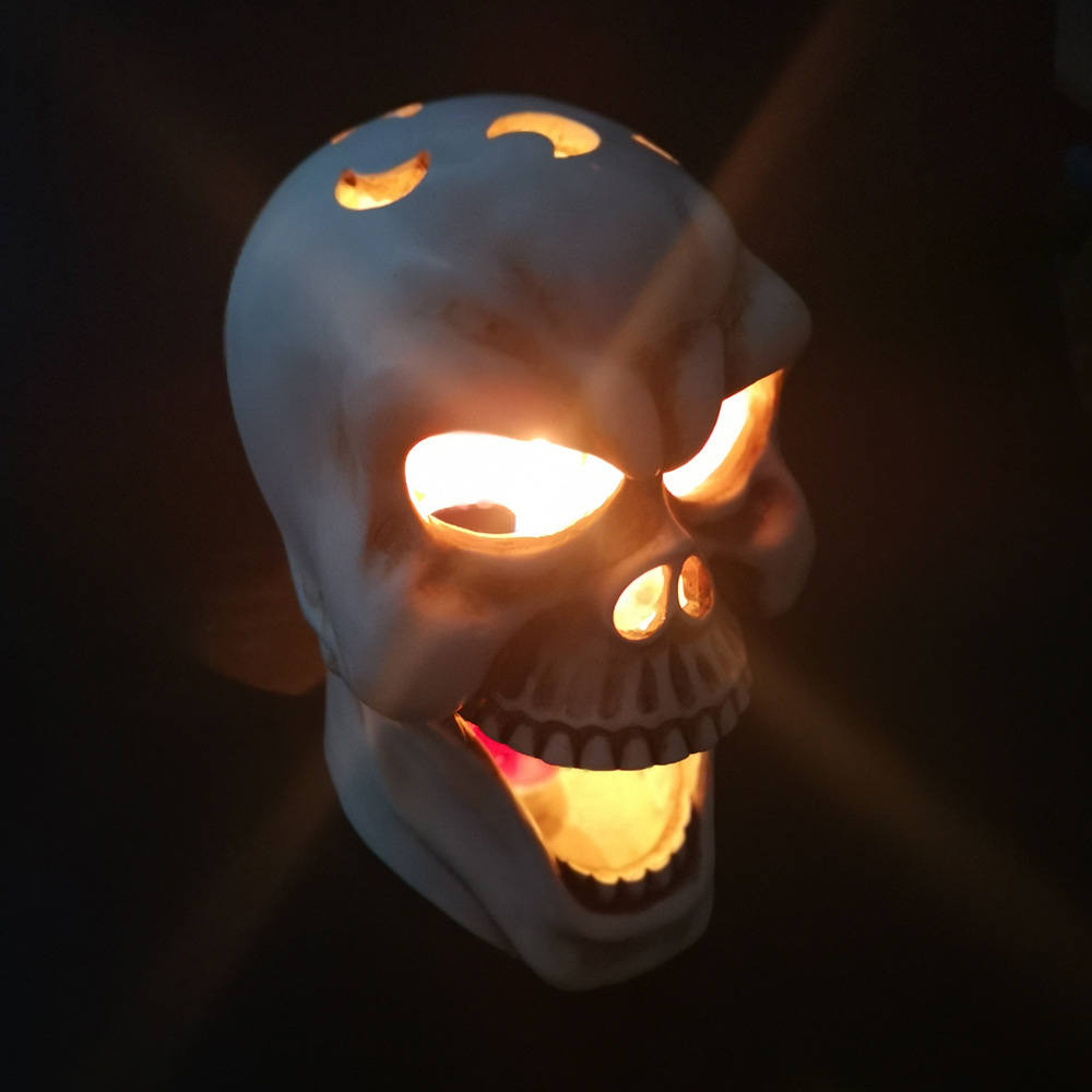 Spooky Skull-Shaped Candle Holder for Eclectic Home Décor