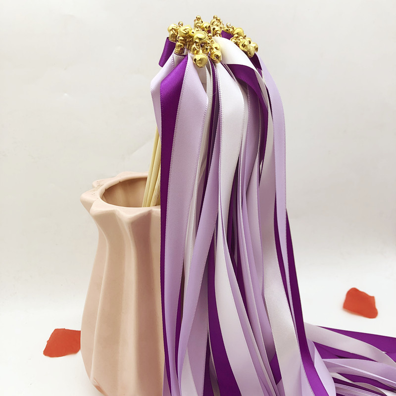 Fancy Ribbon Wands with Bells for Weddings