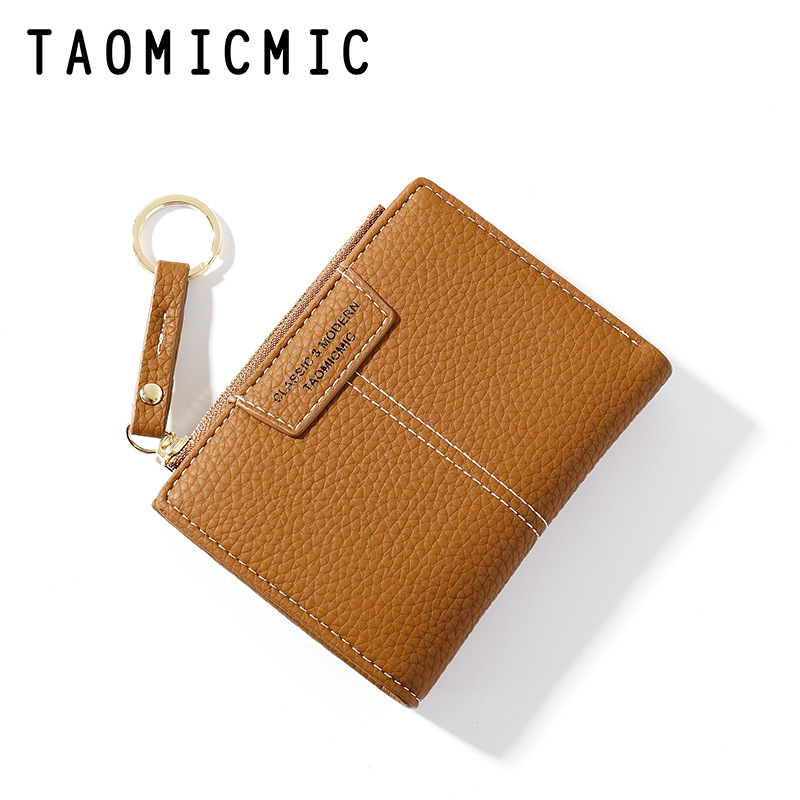Candy Color PU Leather Small Square Flip Zipper Case for Ladies