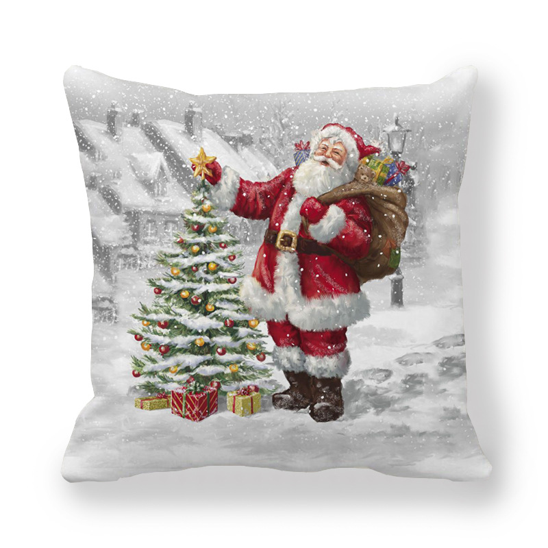 Hyperrealistic Christmas Print Pillowcases for Christmas Parties
