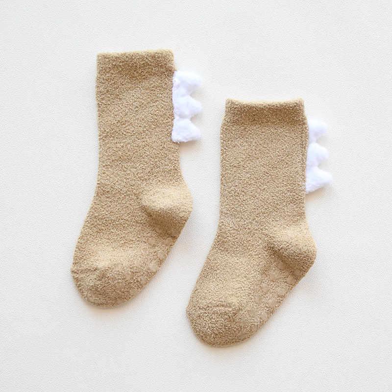Thick Coral Fleece Baby Socks for Winter