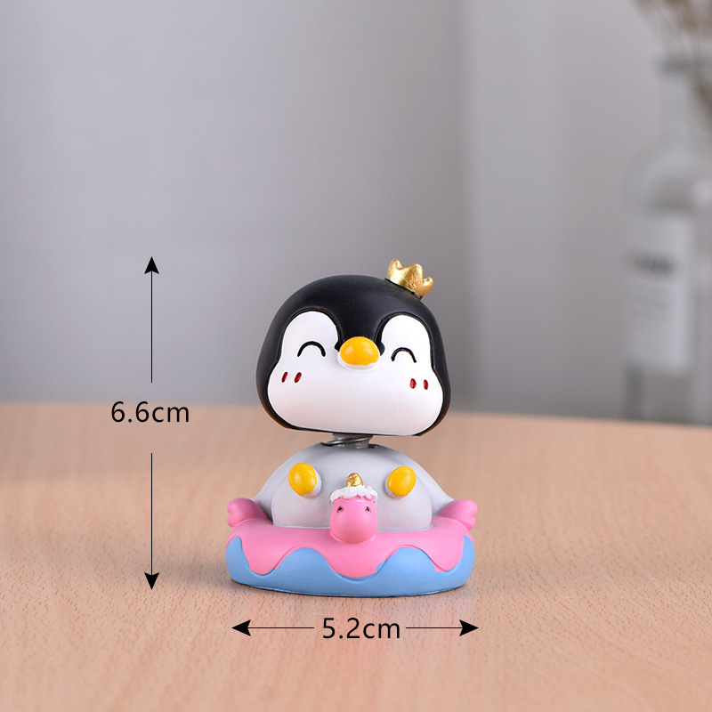 Simple Moving Head Penguin Ornament for Office Table Display