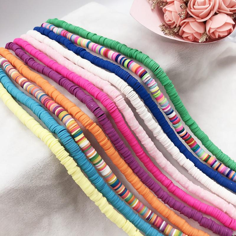 Colored Ceramic Beads Necklace
