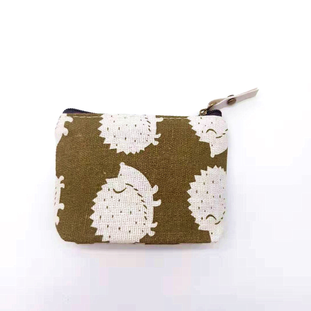 Trendy Linen Canvas Cotton Coin Purse with Cute Design for Storing Personal Items
