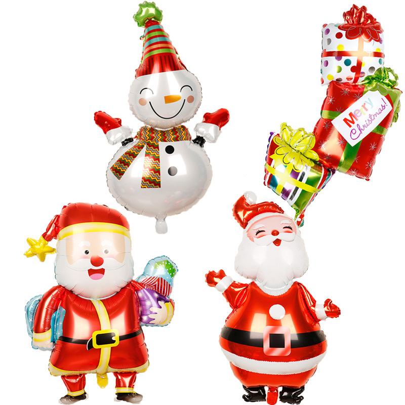 Adorable Christmas Elements Balloons for Christmas Party