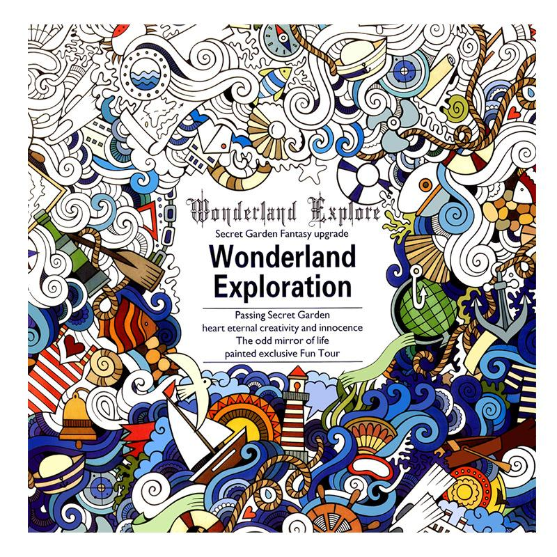 World Exploration Adult's Coloring Book