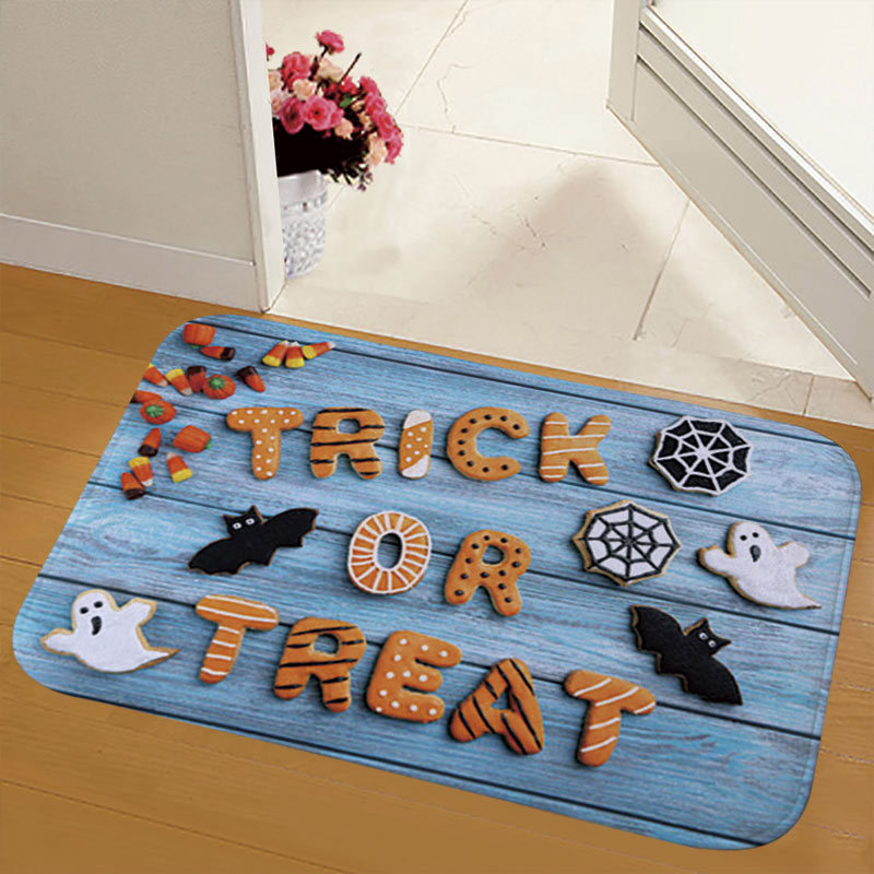 Creative and Scary Printed Flannel Floor Mat for Children's Halloween Party