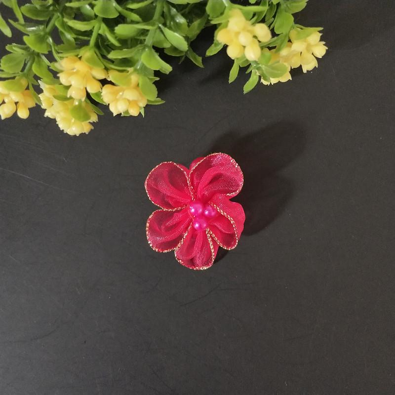 DIY Fabric Pearl Flower for Children's Clothes