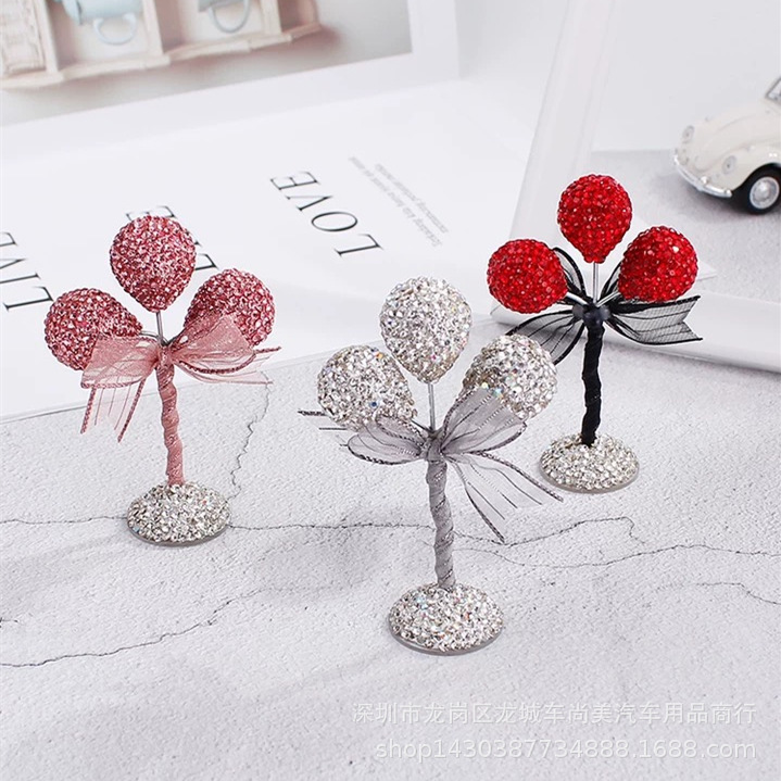 Sterling Rhinestone Balloon Stuff Car Decoration for Aesthetic Appeal