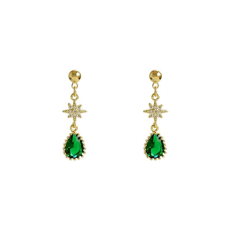 North Star with Waterdrop Shaped Earrings
